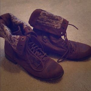 Mossimo Supply Co. Shoes - Brown Ankle Boots